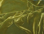 YELLOW GREEN Silk Velvet Fabric - fat 1/4