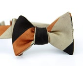taupe, chocolate, & rust freestyle bow tie for the little guy