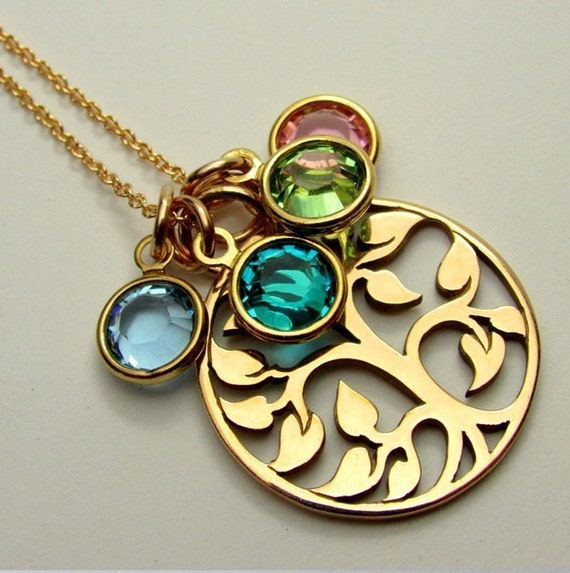 Mother S Necklace Family Birthstones Grandmother