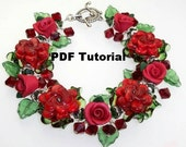 Bracelet Tutorial, Scarlet Rose Bracelet Tutorial SRA 189 by CC Design