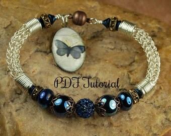 Mission Butterfly Viking Knit Bracelet Tutorial, Beaded Bracelet Tutorial,  Viking Knit Tutorial SRA 98 by CC Design