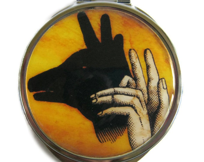 Deer Shadow Puppet Compact Mirror Pocket Mirror Large Gifts for her