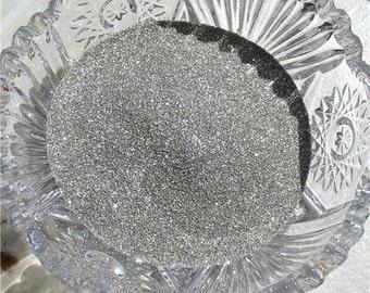 Fine Pure Silver German Glass Glitter 100 Grit 1 Ounce