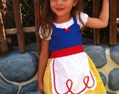 SNOW WHITE dress princess APRON dress toddlers baby and girls princess costume