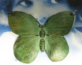 Large Verdigris Patina Butterfly Stamping 329Ver 1X
