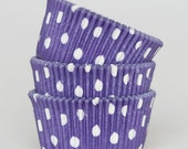 50 Pc Pretty Purple Polka Dot Cupcake Liners 2X1.25 Inch Size Perfect for Parties