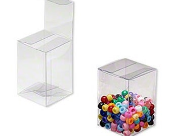20 Pack Clear Plastic Tuck Top Style Packaging Retail Gift Boxes 2X2X3 Inch Size