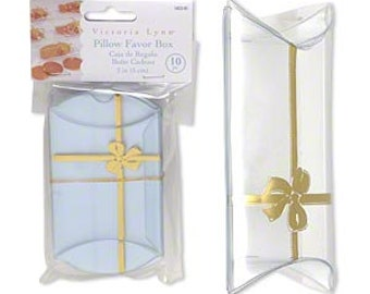 10 Pack Clear Plastic Pillow Style Packaging Victoria Lynn 2X2X1.25 Inch Size Boxes