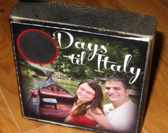 COUNTDOWN to VACATION- large size Chalkboard Photo Letter Blocks- per block price