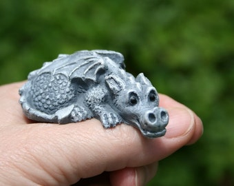 My Pet Dragon Statue - Baby Dragon is READY TO SHIP now - Complete with Cage - Your Choice of Color