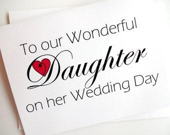 Daughter Wedding Card