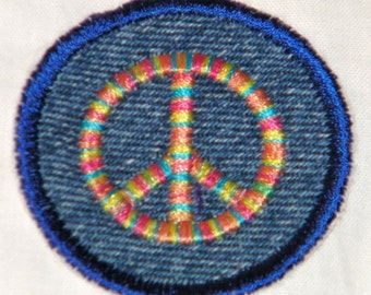Rainbow Peace Sign Iron on Patch