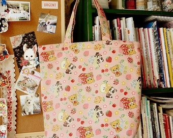 Japanese Original ECO-Friendly Reusable Shopping Bag handmade by Kokka