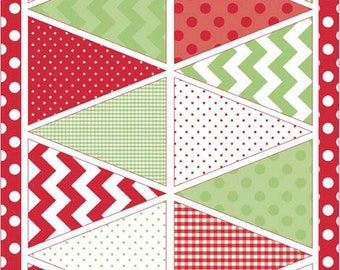 Riley Blake Designs Holiday Banners - Christmas Multi (P560-Multi) - 1 panel