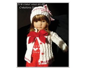 "65. English and  French INSTANT DOWNLOAD PDF Knitting Pattern 13"" dolls Little Darling Effner"