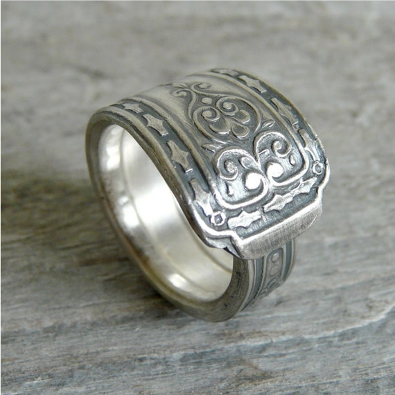 spoon ring antique silverware jewelry by revisions on etsy