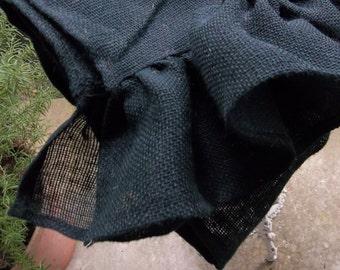 Black Burlap Table Runner Ruffled Burlap Runner Halloween Decor French Country Farmhouse Tablecloth 18x94