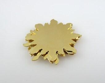 "Sale - Brass Stamping Blank Sun Personalized Jewelry  1 1/4"" Round 24 Gauge Qty. 6"