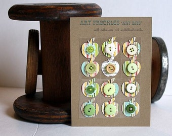 Paper Craft Embellishments, Self Adhesive - Art Bits: Fall Apples