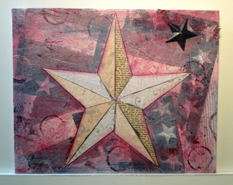 Patriotic Star Collage White 2