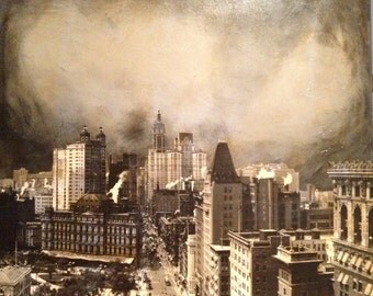 Manhattan Oil Painting/Collage