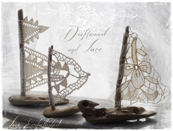 3 Petite Driftwood Beach Decor Sailboats Set Of 3 Boats With