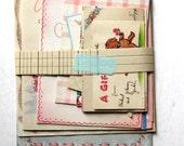 Vintage 1950s New Baby Greeting Cards Bundle (11), Flocked, Foldout, Diaper, Childrens Ephemera, Scrapbooking