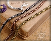 10 Vintage Deluxe Snake Chain Necklaces With Lobster Claw ~ 20 Inch Length ~ Perfect For Our Bezel Trays And FX Glass Pieces With Bails