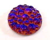 1 Bermuda Blue 18mm Bumpy Top Low Dome Glass Cabochon, Round, Flat Back, Color Changing/Color Shifting Glass Stone