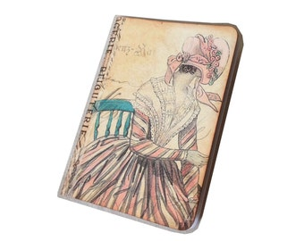 Bronte Era Journal, Small Travel Jotter, Lady Journal, Party Favor,