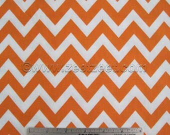 SALE Robert Kaufman REMIX ZIG Zag, Tangerine Orange Chevron - Cotton Quilt Fabric - by the Yard, Half Yard, or Fat Quarter Fq