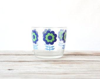 Glass Mod Flower Ice Bucket