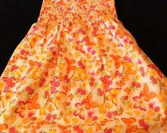 Little Girl's Smocked Sundress - Butterflies