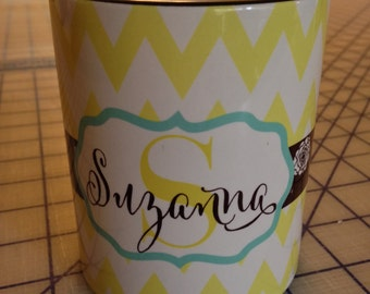 NEW Personalized Chevron pattern mug with name