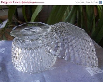 Cut Glass Small Dishes Vintage 2 Pieces