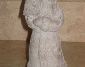 Unfinished paper mache Santa Holding Tree