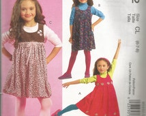 Child's Jumper Pattern 2008 McCalls Easy Gathered Skirt Uncut Girls Sizes 6 - 7 - 8