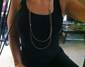 Long Recycled Vintage Silver Zipper Necklace