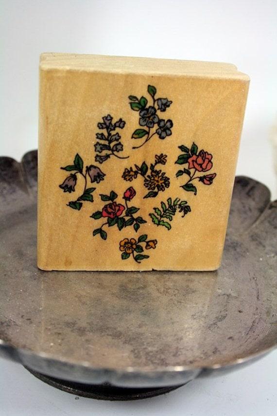Uptown Rubber Stamps Stamp-DESTASH Floral Pattern Stamp Holly Pond Hill Stamp Susan Wheeler