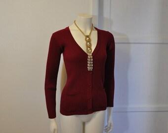 1970s sweater / Vintage 70's YSL Cardigan Sweater