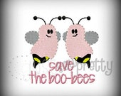 Mini Filled Save The Boo Bees BC Embroidery Design