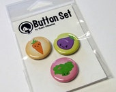 Veggies Button Set by Geri Shields