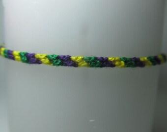 Mardis Gras Inspired Friendship Bracelet
