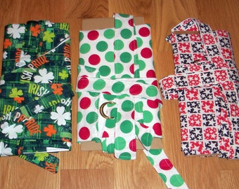APRONS HOLIDAY 3 PACK - St. Patricks, Christmas and 4th of July