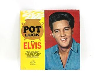 1960s Elvis Pot Luck with Elvis LP Record Album