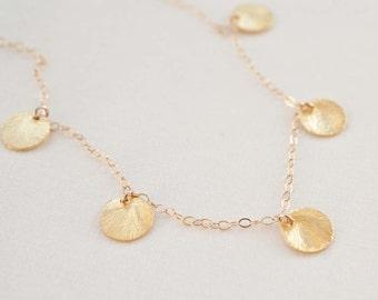 Gold Vermeil Disc Charm Necklace