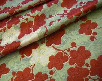 Vintage silk Japanese kimono fabric (plum)