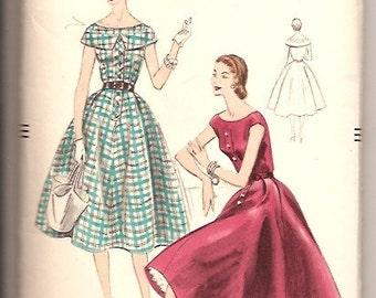Vogue 8508 Vintage 50s Dress Sewing Pattern Size 14 UNCUT
