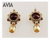 AVIA Swarovski Rivoli Earrings DIY Beading Kit (Instruction and Materials)