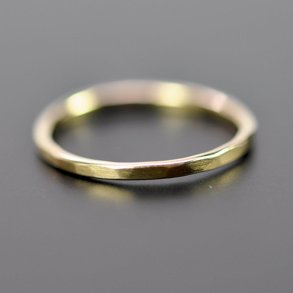 yellow gold 1mm wedding band or fashion ring 18k